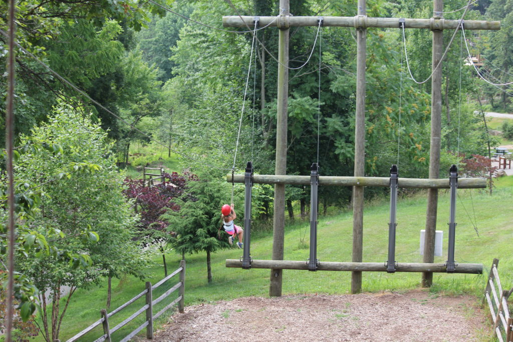Zip Lining at Roundtop Mountain Resort
