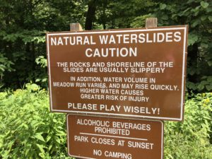 Natural Waterslide Caution
