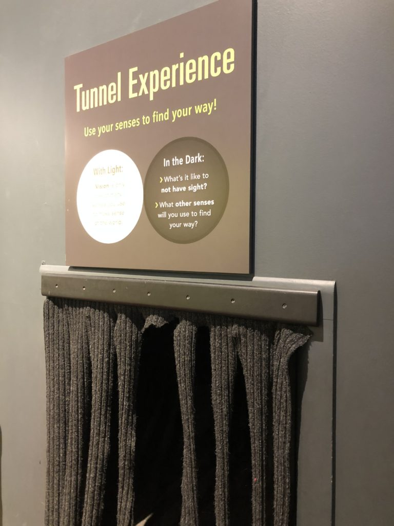 Tunnel Experience at Da Vinci Science Center