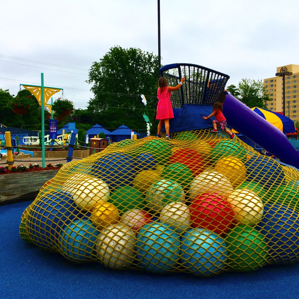 Giant Ball Slide at Sesame Place