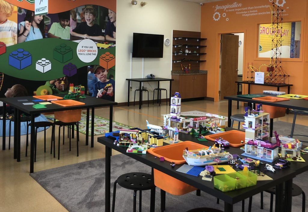Main area at Snapology Discover Center in Lancaster