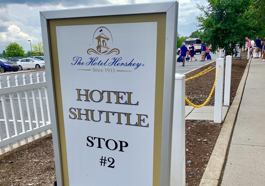 The Hotel Hershey Shuttle Stop at Hersheypark