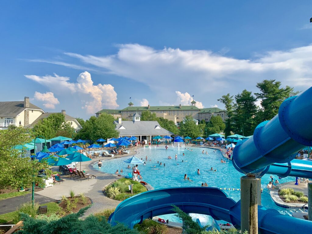 The Hotel Hershey Water Slides