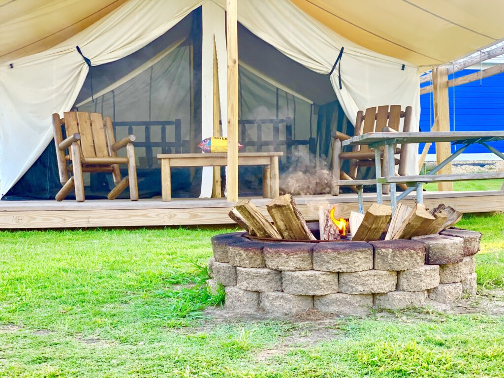 KOA Chincoteague Glamping Tent
