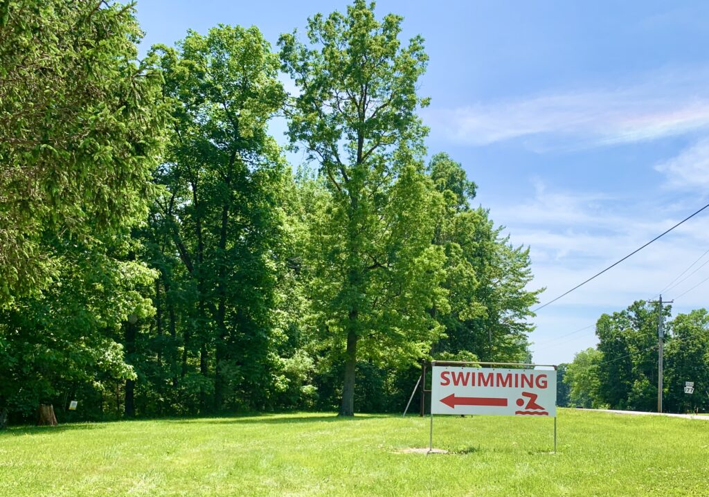 Gifford Pinchot State Park Swimming Sign
