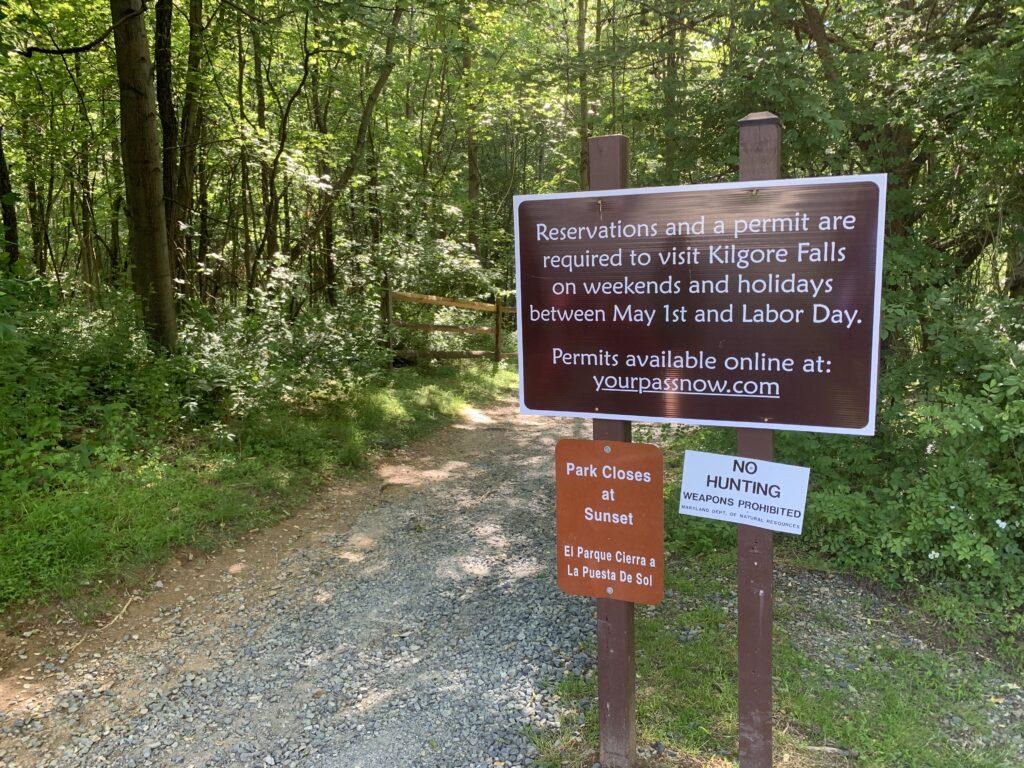 Kilgore Falls Trail Head