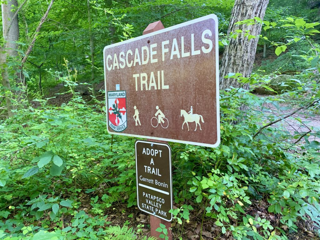 Trail Head for Cascade Falls