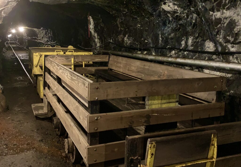 Pioneer Tunnel Mine Carts
