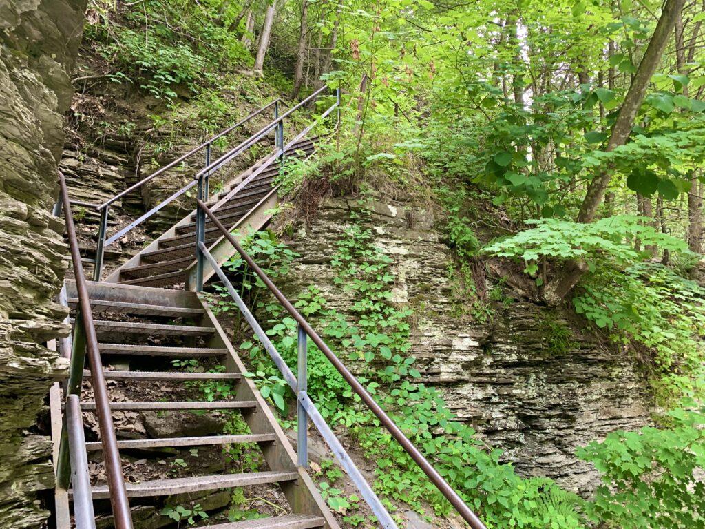 Havana Glen Park Gorge Trail Stairs