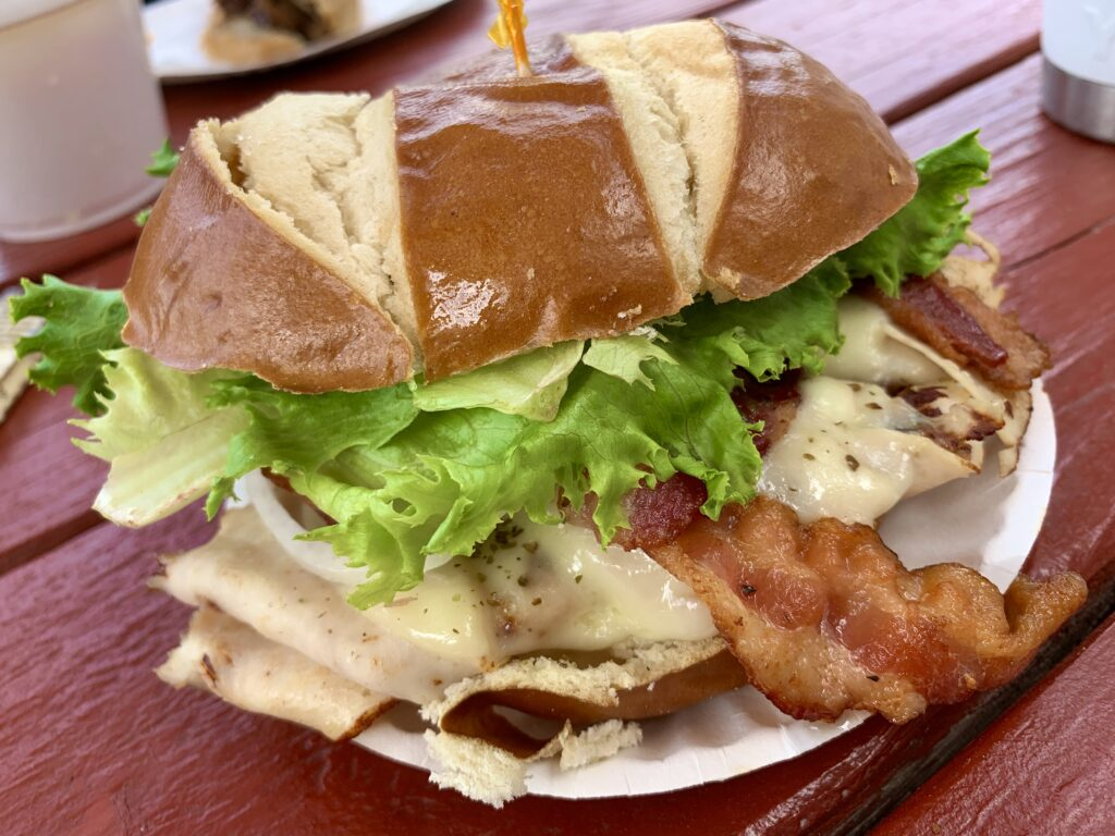 The Pretzel Hut Pretzel Sandwich