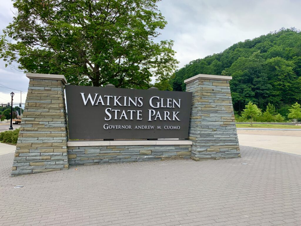 Watkins Glen State Park Entrance Sign