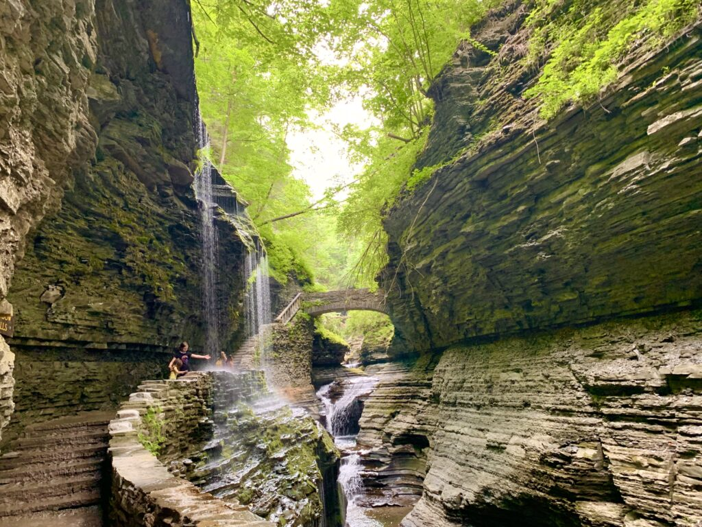 Amazing waterfalls in Ithaca NY