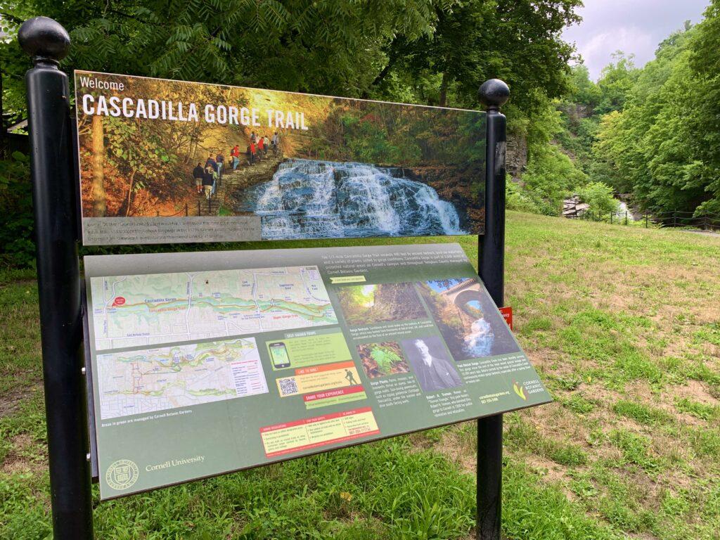 Cascadilla Gorge Trail Sign