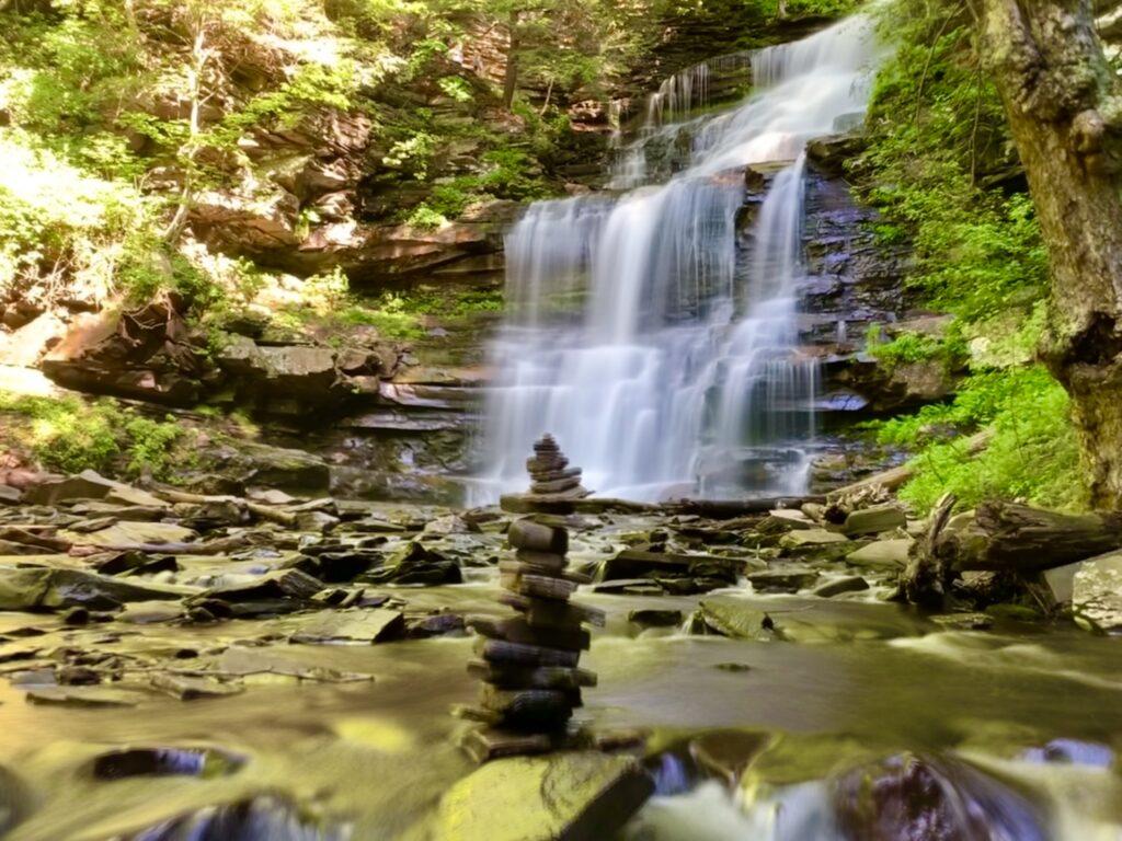 Ricketts Glen Waterfall in PA