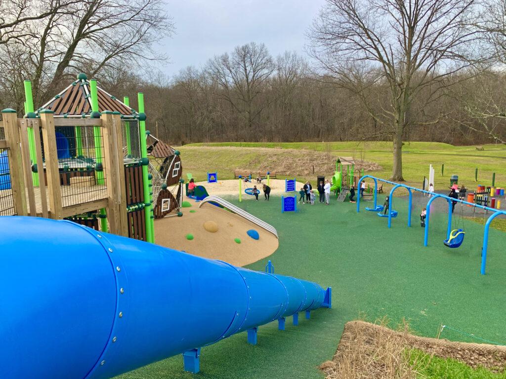 Lions Pride Park Big Blue Slide