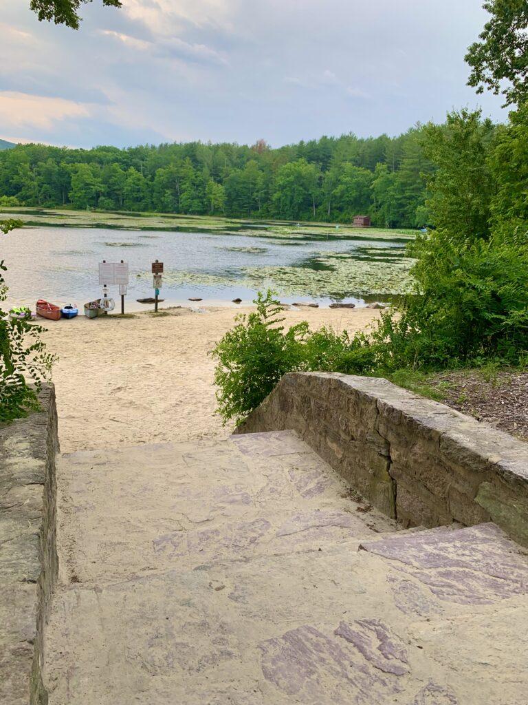 Steps to Laurel Lake Beach
