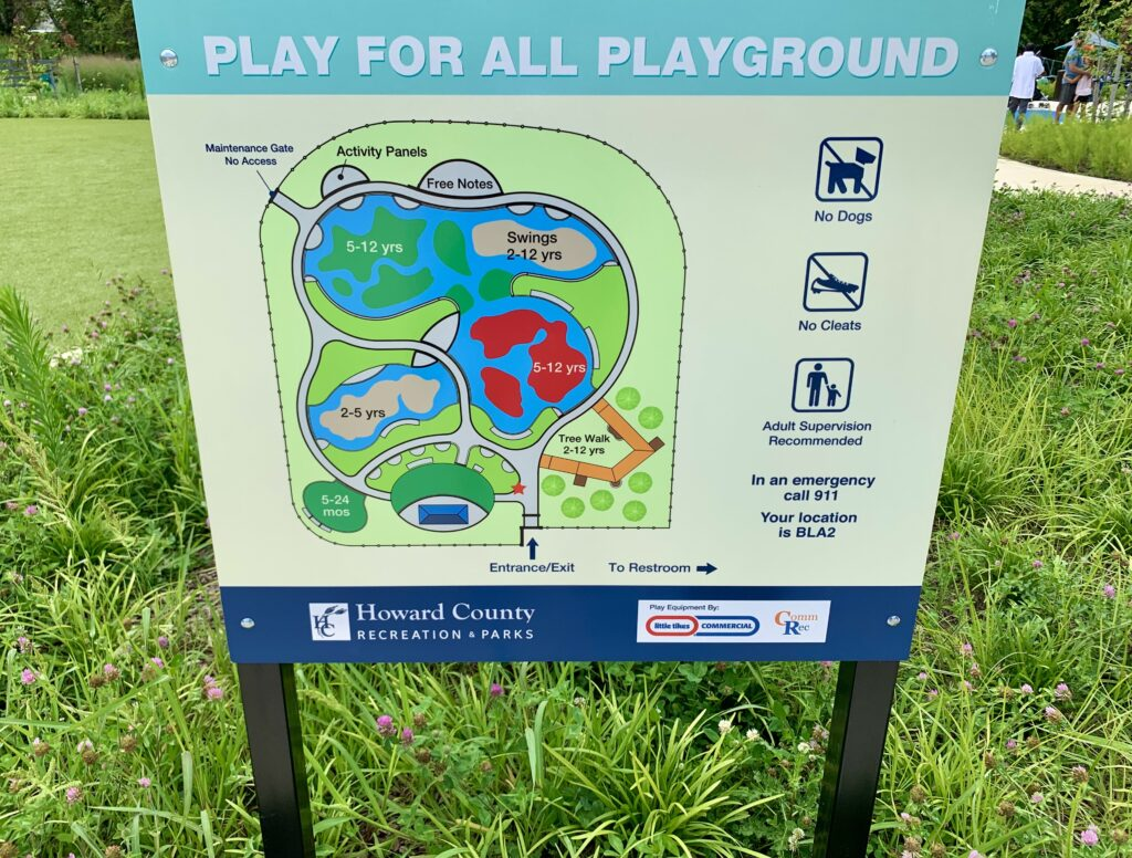 Play For All Playground Sign