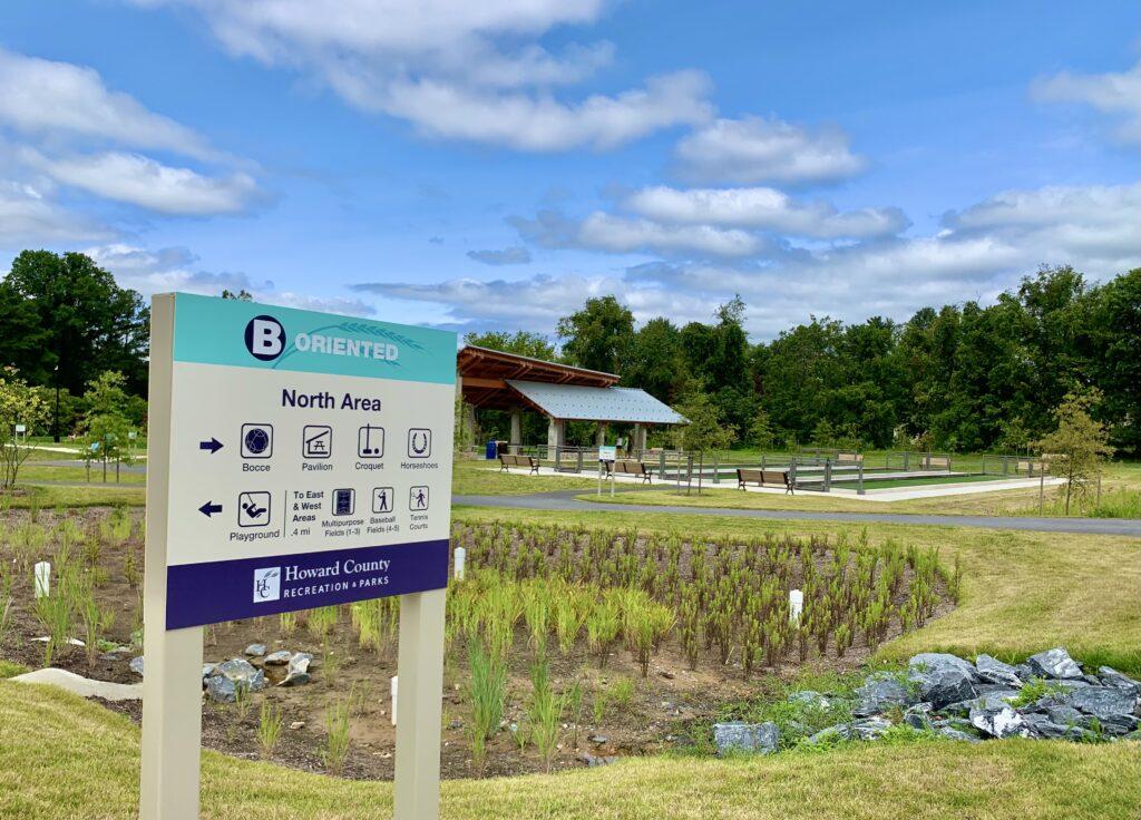 Blandair Park North Area Sign