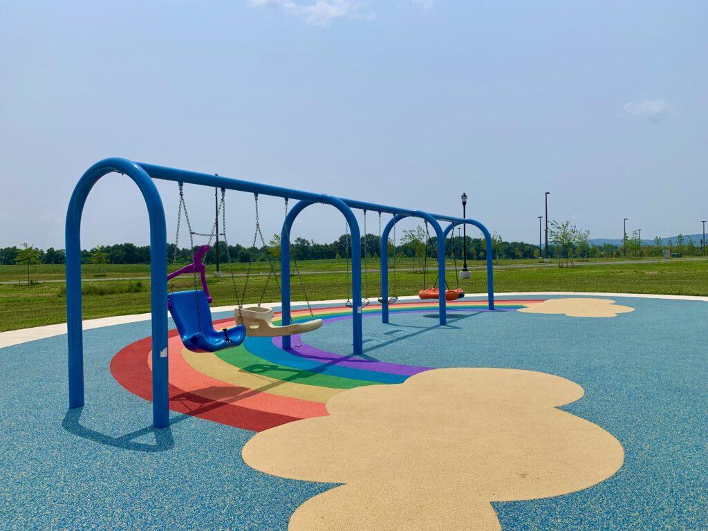 Sophie and Madigan Playground Swings