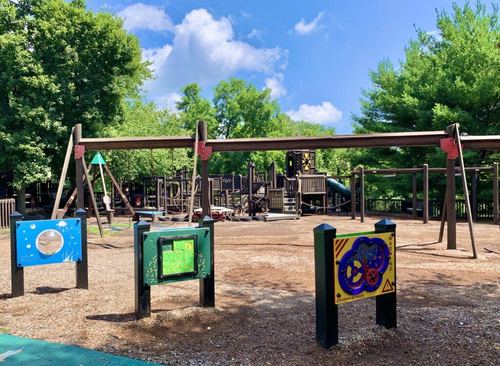 Rockfield Park Playground Swings
