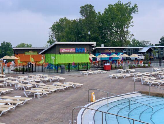 Camp Cedar Pool Lounges