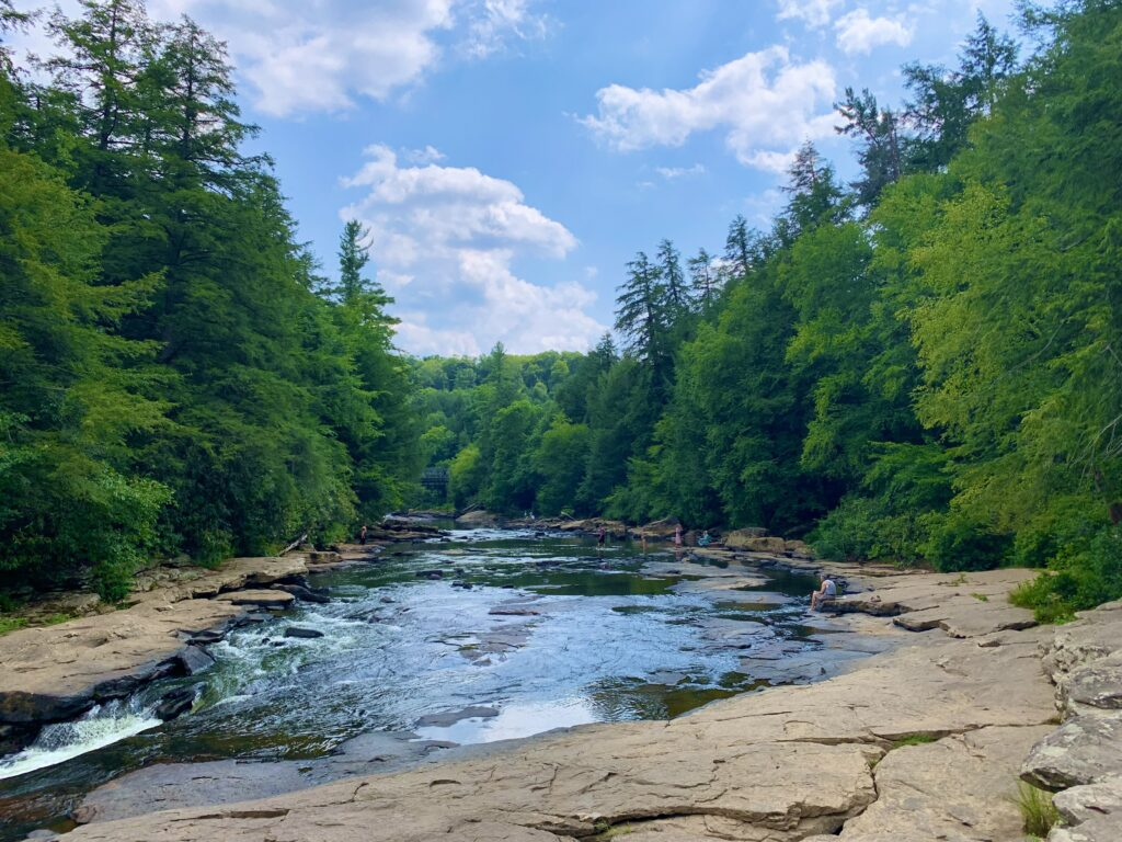 Upstream View from Shallow Falls