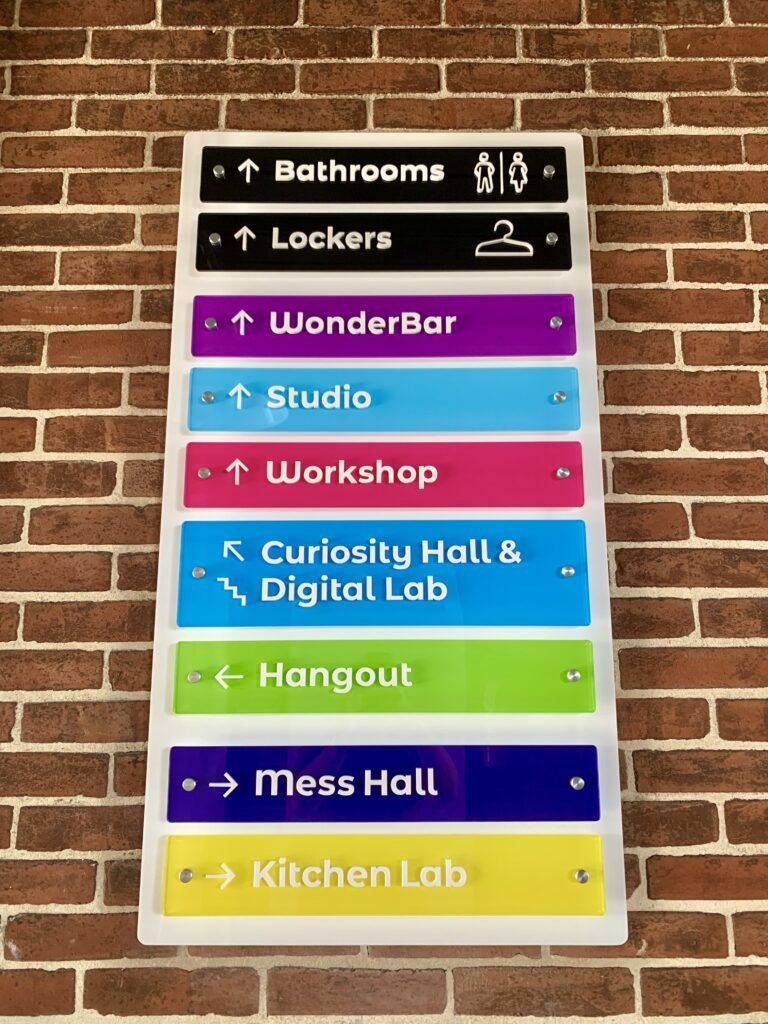 Keystone Kidspace Direction Sign
